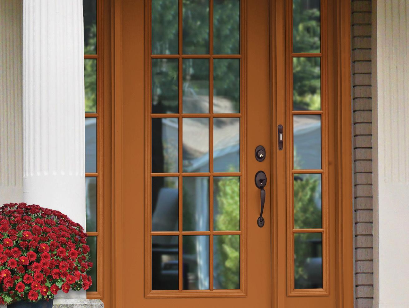 Provia Entry Door - Burnt Orange