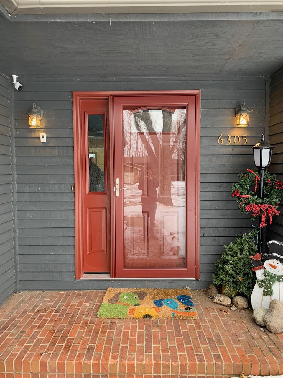 Provia Entry Door & Storm Door - Red