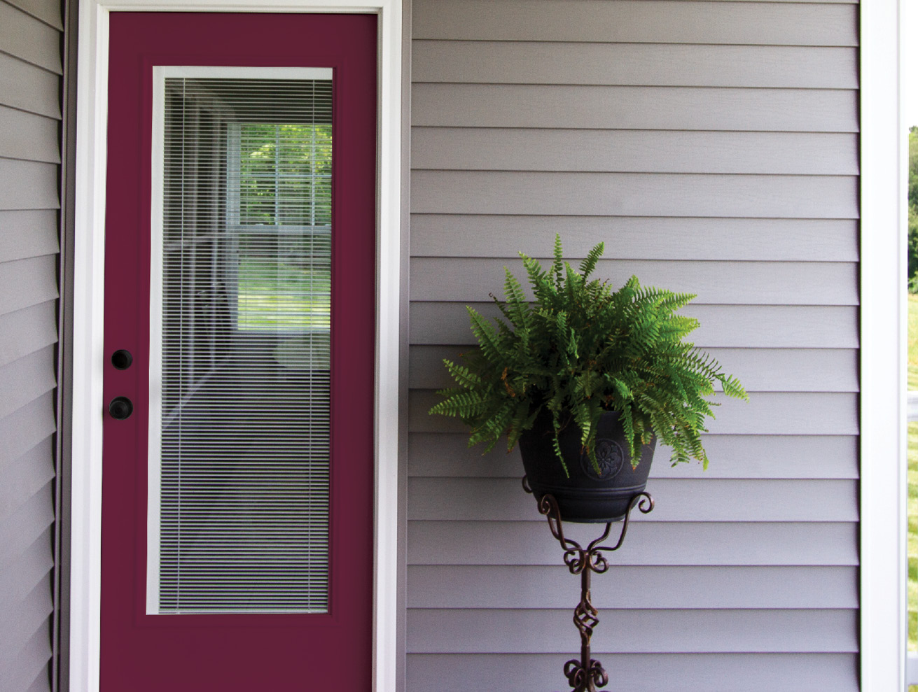Provia Entry Door Cabernet